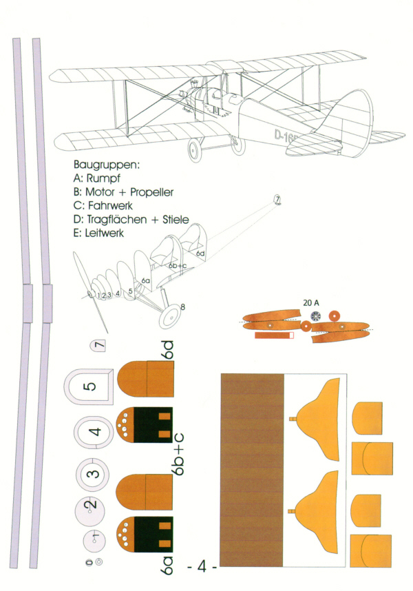 52351-1 - De Havilland DH 60 Genet II Moth - 1:33