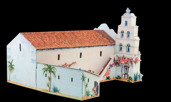 pm01 - Eglise style mission - Modell Card - Bastel